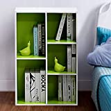 Classroom Bookshelves and Bookcases Many Tier White and Green Finish Industrial Modern Label Cubicals Rectangle Bookcase & E-Book