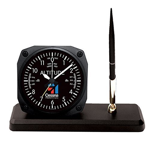 Altimeter Desk (Trintec Cessna Altimeter Desk Pen Set with Alarm Clock Model CES-DS60 by Trintec)