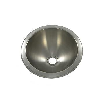 Opella 18105 046 Undercounter Drop In Bathroom Sink Brushed Stainless Steel