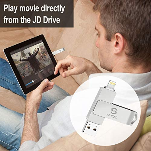 Apple MFi Certified 256GB Photo-Stick-for-iPhone-Storage iPhone-Memory iPhone USB for Photos iPhone USB Flash Drive Memory for iPad External iPhone Storage iPhone Thumb Drive for iPad Photo Stick