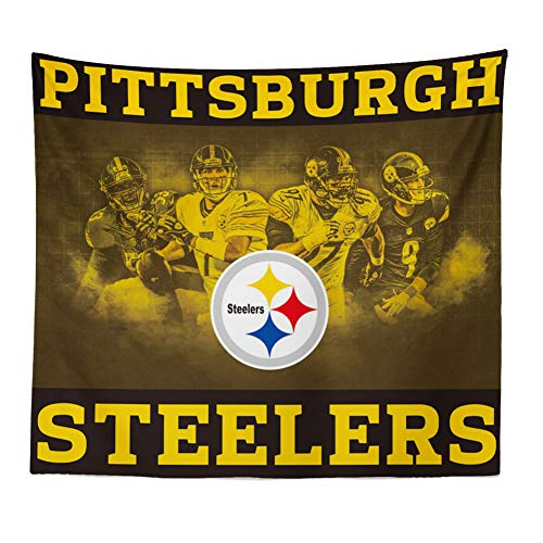 Hele Top Pittsburgh Steelers Tapestry Wall Hanging Colored Printed Wall Tapestry for True Fans décor 51