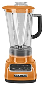 KitchenAid KSB1575TG 5-Speed Diamond Blender with 60-Ounce BPA-Free Pitcher - Tangerine