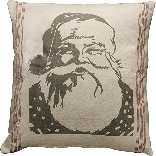 Primatives by Kathy Flour Sack Style Throw Pillow, 25 x 25 , Santa