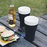 Magisso White Line Naturally Cooling Tumbler Set of 2 #70626