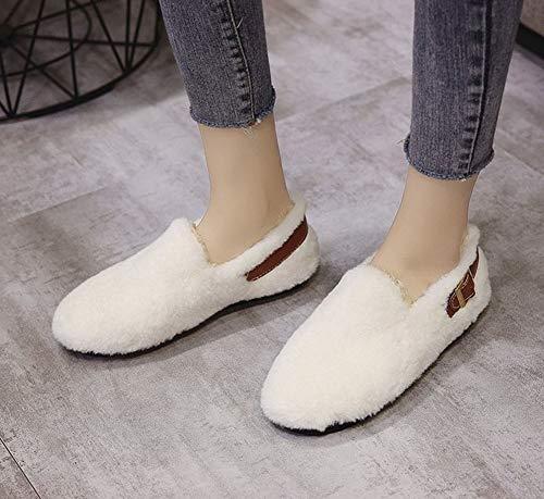 Resistentes Terciopelo 01 Cómodo Al Cálido Mujer Para Además Zapatos De Y Invierno Desgaste Antideslizantes Grueso Planos wYg7q7