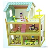 Serra Baby Educational Wooden Baby House - furnished terrace 3 Times