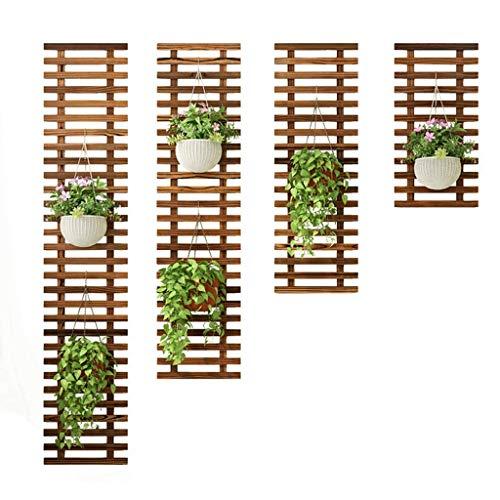 - KSDGQ Floating Plant Shelves Balcony Wall-Mounted Wooden Flower Pot Holder Fleshy Stand Green Radish Climbing Frame Garden Plant Hanger Indoor Decoration
