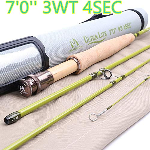 (1-3WT Fly Rod 6-7.5FT Medium-Fast Graphite IM10 Carbon Fly Fig Rod Small Stream & Creek Rods,Burgundy)
