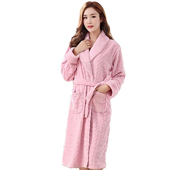 MOXIN Ladies Dressing Gown Terry Towelling Flannel Bathrobes 100 ...
