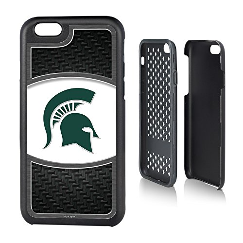 Michigan State Spartans iPhone 6 & iPhone 6s Rugged Case officially licensed by Michigan State University for the Apple iPhone 6 by keyscaper® Durable Two Layer Protection Shock (Spartan Armor For Sale)