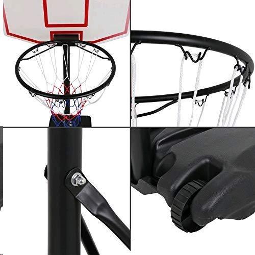 Nova Microdermabrasion Portable Basketball Hoop Stand Backboard System Adjustable-Height W/Wheels 5+ Years Kids Goal Indoor Outdoor 6.9ft (Black) by Nova Microdermabrasion (Image #5)