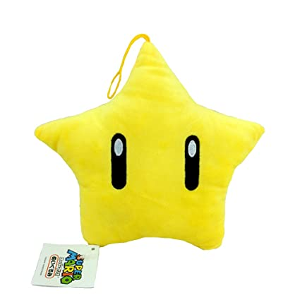 Amazon.com: Super Mario Bros Super Star Power Peluche suave ...