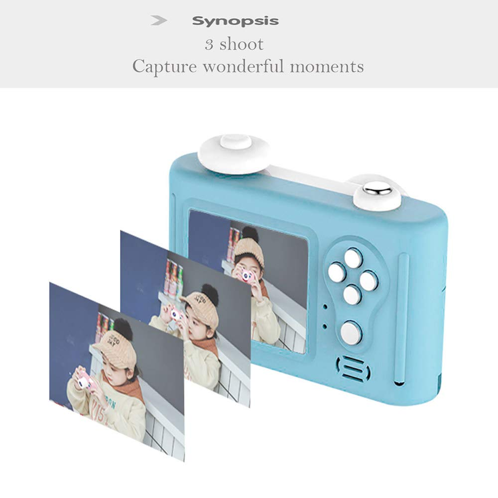 Balee Kids Digital Camera Mini 2 Inch Screen Children's Cameras 8MP HD Video Cameras Camcorder for Girls and Boys Included 16G TF Card and Silicone Soft Cover by Balee (Image #6)