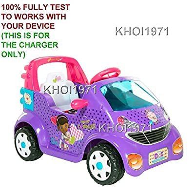 KHOI1971 Home Wall House Charger AC Adapter for Purple White-Pink-Trim 8801-97 DYNACRAFT Doc McStuffins 6-Volt Small Car Ride-On Walmart: Toys & Games