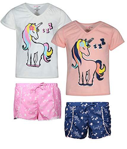 dELiA*s 2-Pack Girls Pajama Sleepwear Short Set (2 Full Sets) (14-16, Unicorn)' ()