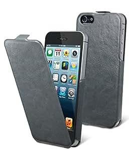Muvit iFlip Case iPhone 5 Libro Gris - fundas para teléfonos móviles