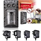 Electronic Ultrasonic Pest Rat Mosquito Mouse Insect Rodent Control Repeller Anti Mole Killer Trap Bug Chaser (Random: Adaptor)