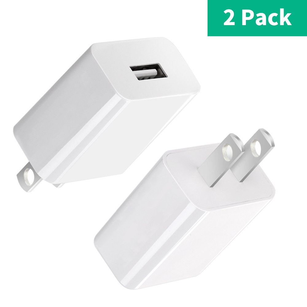 [2 Pack] BENSN 5V Power Adapter USB Wall Charger for Yi Camera, Nest Cam, DropCam, Netvue Home Security Camera
