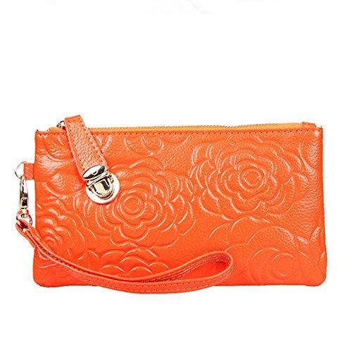 Eysee - Cartera de mano para mujer Rojo azul 20cm*11cm*1.5cm naranja