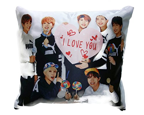 Pillow Band (Vivid Bangtang Boys BTS Boy Band Kpop Pillowcase BTS (#028))
