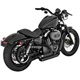 Exhaust Silencers Shortshots Staggered Vance Hines & Black x Large Harley Davidson Sportster 04-13