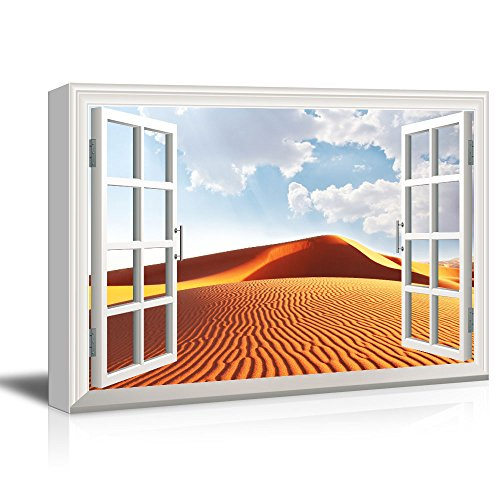 Window View Desert Under Sunny Sky