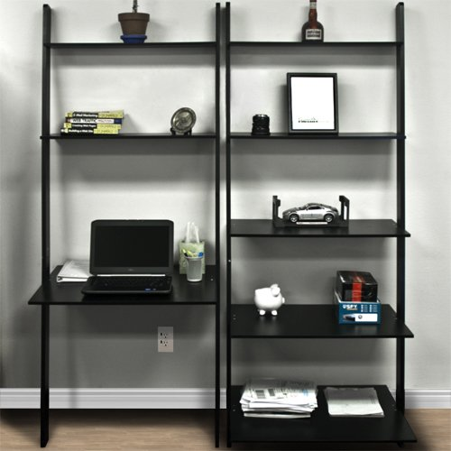 Best Choice Products 7-Shelf Leaning Bookcase And Computer