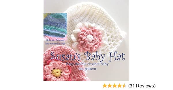 Amazon Susans Simple Baby Hat And Flowers In Preemie And