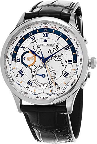 Maurice Lacroix Masterpiece Worldtimer Men's Silver Dial Bla -