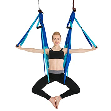Amazon.com : Splice Color Aerial Yoga Hammock 2.5M1.5M Anti ...