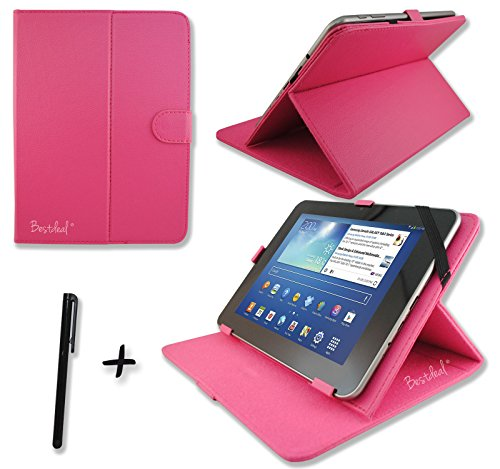 Bestdeal® Rosa PU Lederner Tasche Case Hülle für Acer Iconia Tab 10 A3-A10 &10 A3-A11 & A210 & W511P 10.1 inch zoll Tablet PC + Stylus