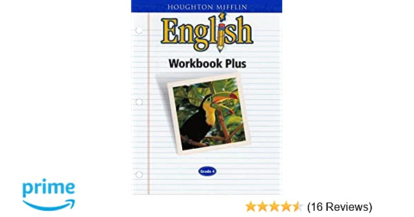 English workbook plus grade four houghton mifflin 9780618090631 english workbook plus grade four houghton mifflin 9780618090631 amazon books fandeluxe Gallery