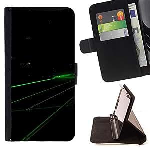 - Digital green - - Monedero PU titular de la tarjeta de cr????dito de cuero cubierta de la caja de la bolsa FOR Apple Iphone 6 RetroCandy