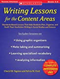 Writing Lessons for the Content Areas, Cheryl M. Sigmon and Sylvia M. Ford, 0439753775