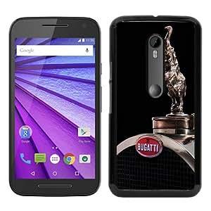 bugatti Black Special Custom Picture Design Motorola Moto G 3rd Generation Phone Case