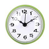MD Group Wall Clock Bathroom Shower Waterproof ABS Large Sucker Without Battery Home Decor