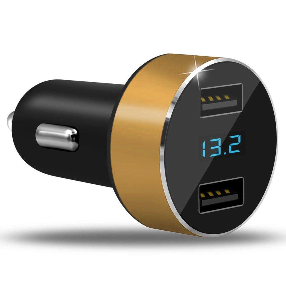 24/V Chargeur USB LINYANMY Dual USB Chargeur de Voiture Socket Prise de Courant avec voltm/ètre num/érique 12