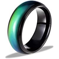 Ello Elli 8MM Comfort Fit Stainless-Steel Color Changing Mood Ring