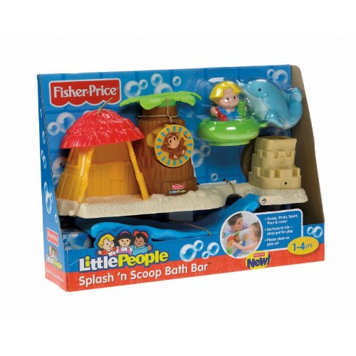 fisher price little people splash 39 n scoop bath bar toys games toys toys. Black Bedroom Furniture Sets. Home Design Ideas