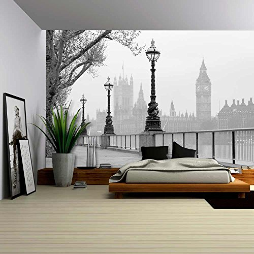Big Ben Houses of Parliament Black and White Photo