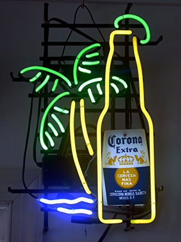 - New Larger Corona Extra Bottle Palm Tree Neon Light Sign 20''x16'' H606(No More Long Waiting for WEEKS/MONTHS with Fast Shipping From CA With FREE USPS Priority Mail)
