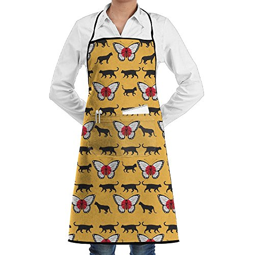 Wyfcxc Butterfly Flags Concise Apron For Men Work Chef Cooki