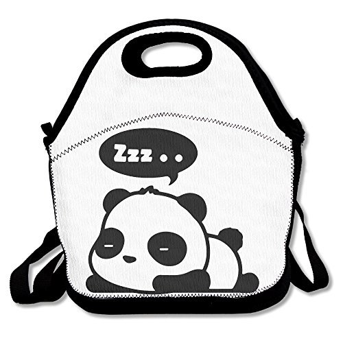 Sleepy Panda Reusable Insulated Lunch Box Tote Bag