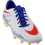 Nike Womens Hypervenom Phelon II FG Soccer Cleat (Sz. 9) White, Racer Blue