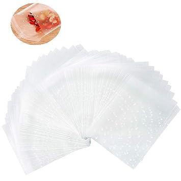Amazon.com: KEYYOOMY Bolsas de plástico autoadhesivas para ...