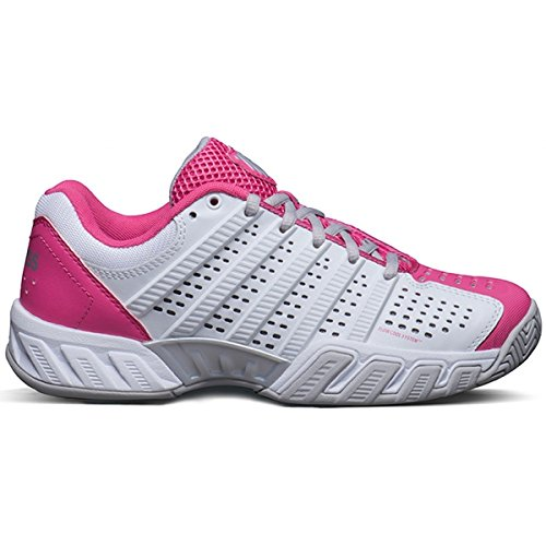 K-Swiss Bigshot Light 2.5 Women's Tennis Shoes (White/Shocking Pink) (7 B(M) US)