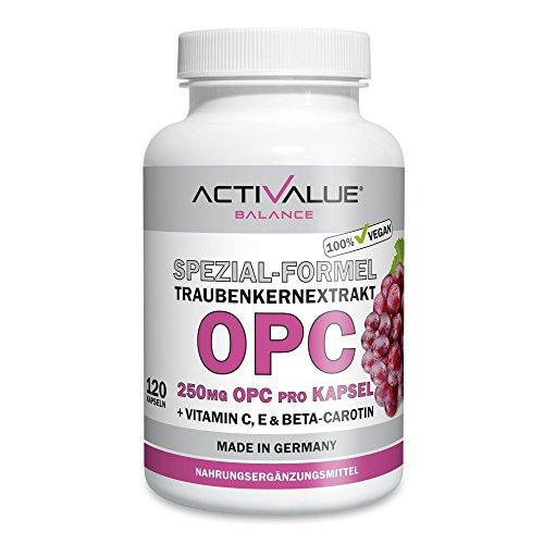 TESTSIEGER PREIS-LEISTUNG OPC Test 2016 vergleich.org: OPC SPEZIAL-FORMEL, 250mg echtes OPC pro Kapsel, XXL-Packung für 4-Monate, 100% vegan, deutsche Premium-Qualität, mit natürlichem Vitamin C