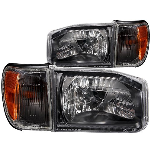 Anzo USA 111051 Nissan Pathfinder Crystal Black Headlight Assembly - (Sold in Pairs) ()