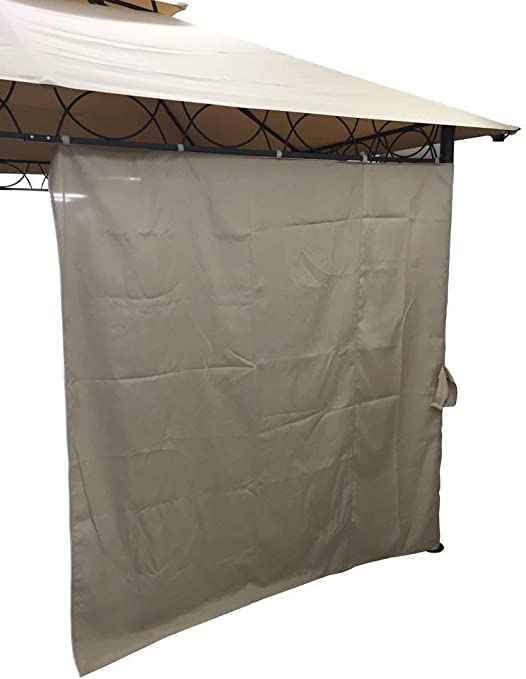 Set Di Tende Laterali Di Ricambio Per Gazebo 3x3 Colore Beige