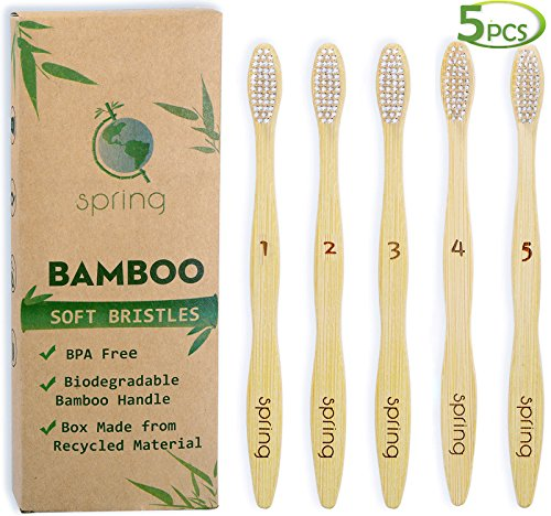 Toothbrushes 100 Natural Biodegradable Bristles Sensitive